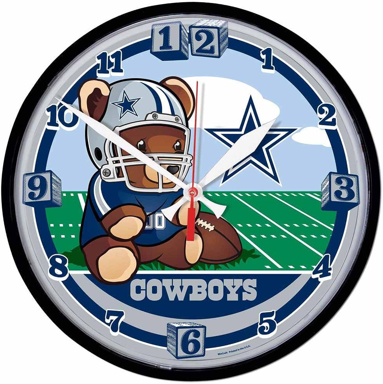 Wincraft NFL 2942814 Dallas Cowboys Round Wall Clock, 12.75Inch