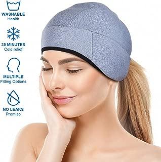 Headache and Migraine Relief Cap,A Headache Ice Hat for Migraine Headaches and Tension Relief,Adjustable, Grey, Comfortable, Long Cool