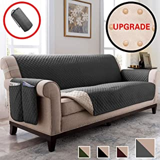 Vailge Sofa Cover,Durable Couch Covers for Dogs,Children,Pets,Sofa Covers for Dogs,Sofa Slipcover,Couch Covers for 3 Cushion Couch,Couch Covers for Sofa,Couch Cover(Sofa:Dark Grey)