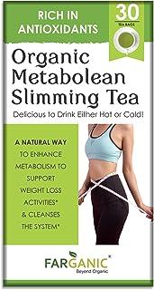 Farganic Organic Metabolean / Metalean Slimming Green Tea for Weight Loss Fast. Rich in Antioxidants, Improves Metabolism,...