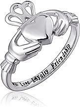 S925 Sterling Silver Love Loyalty Friendship Irish Ladies' Claddagh Ring