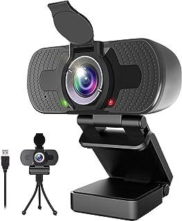 ウェブカメラ Webカメラ 高画質 1080P フルHD 200万画素 マイク内蔵 ワイドサイズ対応 パソコンカメラ オートフォーカス 会議用PCカメラ Windows 10/8 / 7 MacOS ZOOM Skype 日本語説明書付き
