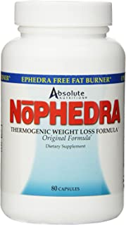 Absolute Nutrition Thermogenic Fat Burners, Nophedra Capsules, 80 Count Bottle