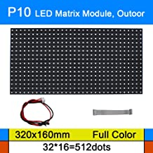 P10 LED Matrix Module, Flexible RGB Digital Pixel Panel Screen with 512 dots, 1/2 Scan, 5000 Nits Brightness for Outdoor Display(Size: 320x160mm)
