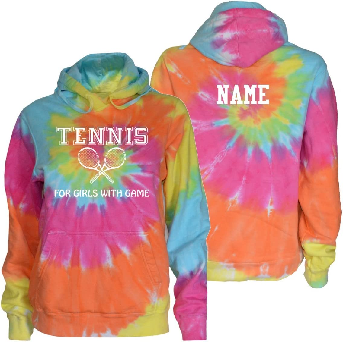 Love It with Racquets Logo JANT girl Tennis Tie Dye T-Shirt