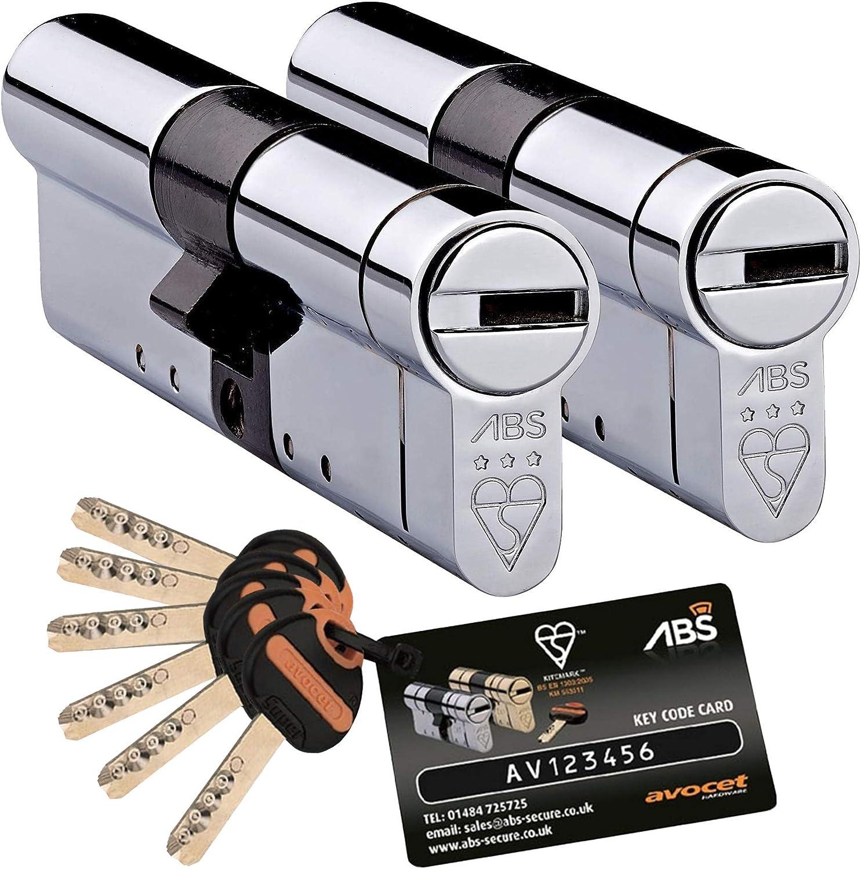 AVOCET ABS EURO CYLINDER LOCK TS007 1 STAR KITEMARKED UPVC DOORS ANTI BUMP
