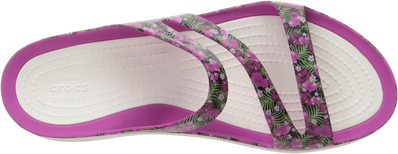 Crocs Womens Swiftwater Graphic Sandal W Sport