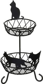 Abeille アクセサリー収納 アクセトレイ 2段 ネコ ブラック ACW-1334
