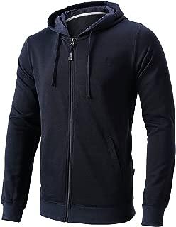 Men's Casual Full Zip Hoodie Hooded Sweatshirt Cotton Blend Hooded Jacket