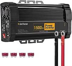 JoyTutus 1500W Power Inverter DC 12V to AC 110V-130V with Dual AC Outputs Dual USB Charger Power Inverter for Car RV Marine Outdoors