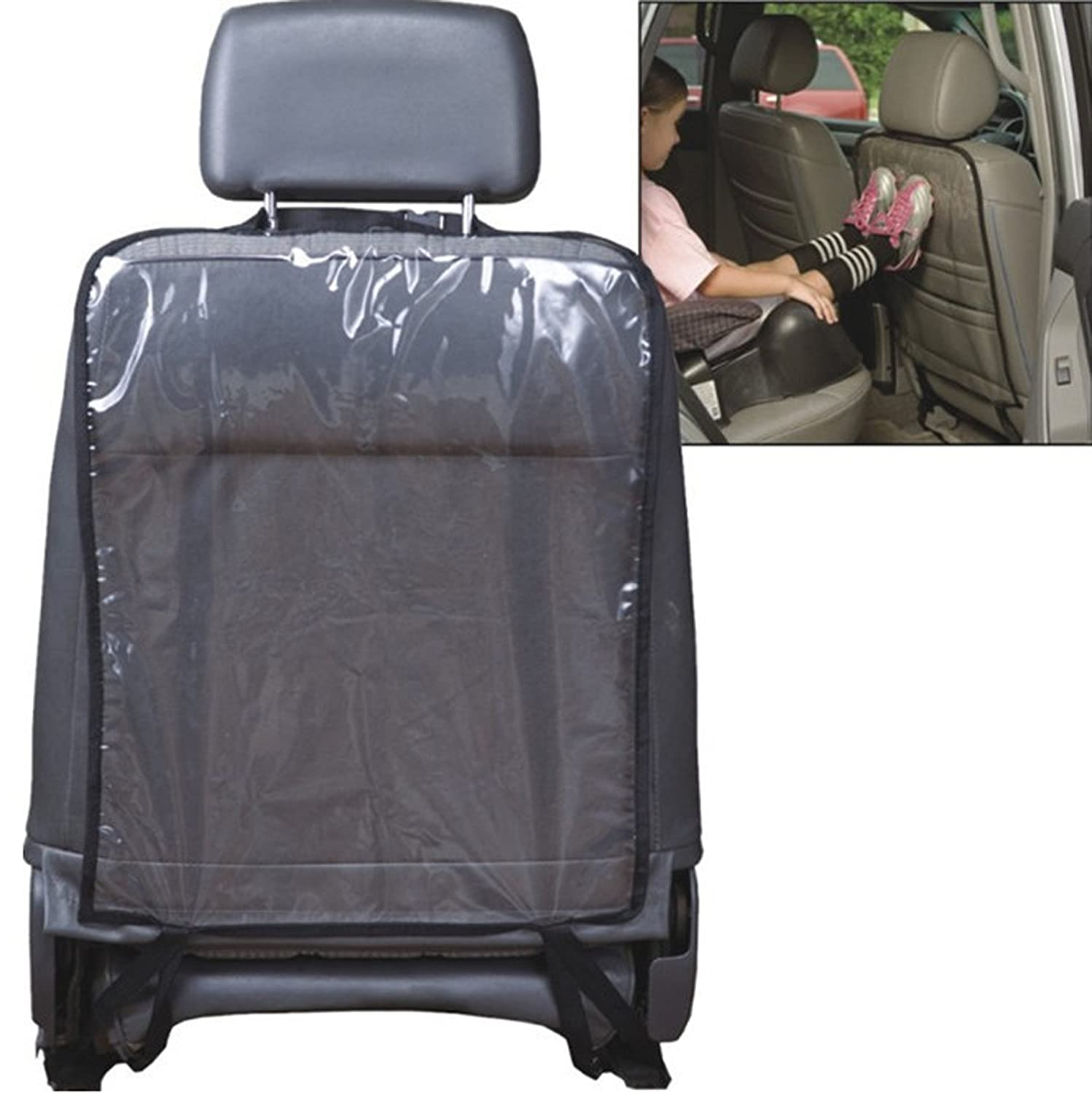 Car Seat Back Kick Protector Waterproof Backseat Auto Cover Mats for Children Kids Scratches Clean Black