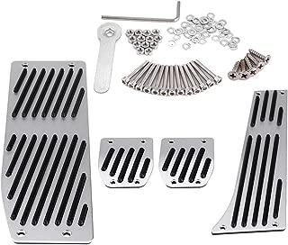 Car Foot Pedal Set, 4pcs Car Manual Transmission Clutch Brake Foot Rest Pedal Pad for BMW 1/3/5/7/X1 Series E30 E32 E34 E36 E38 E39 E46 E87 E90 E91 E92