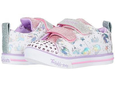 SKECHERS KIDS Sparkle Lite 20274N (Toddler/Little Kid) (White/Multi) Girl