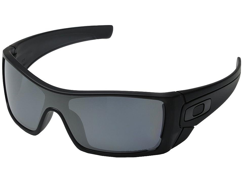 Oakley Batwolf (Matte Black Ink w/Black Iridium Polarized) Sport Sunglasses