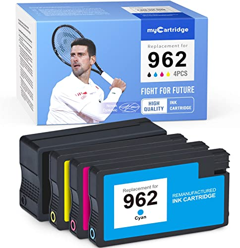 high quality MYCARTRIDGE Remanufactured Ink Cartridge Replacement for outlet online sale HP 962 962XL for Officejet 9015 9015e 9018 9025 9010 (1 Black, 1 Cyan, 1 Magenta, 1 Yellow, 2021 4 Pack) outlet online sale