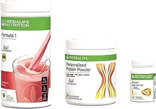 Herbalife F1 Strawberry Shake,500g, F3 Protein Powder, 200g and Afresh Lemon, 50g