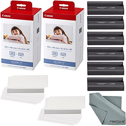 Canon KP-108IN Color Ink and Paper Set Includes Total of...