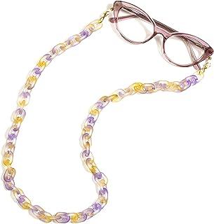 C24 - Cadena para gafas de sol, correa para gafas de sol, cadena de gafas de moda, retenedor de gafas de lectura, collar y...