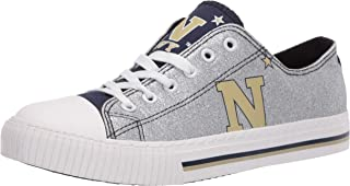 FOCO NCAA Navy Midshipmen Womens Glitter Low Top Canvas ShoesGlitter Low Top Canvas Shoes, Team Color