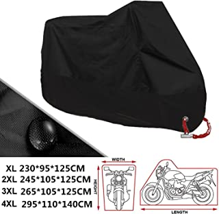 ANFTOP Motocicleta Funda para Moto 4XL Negro Color Agujeros
