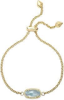 Kendra Scott Elaina Adjustable Chain Bracelet In Light Blue Illusion