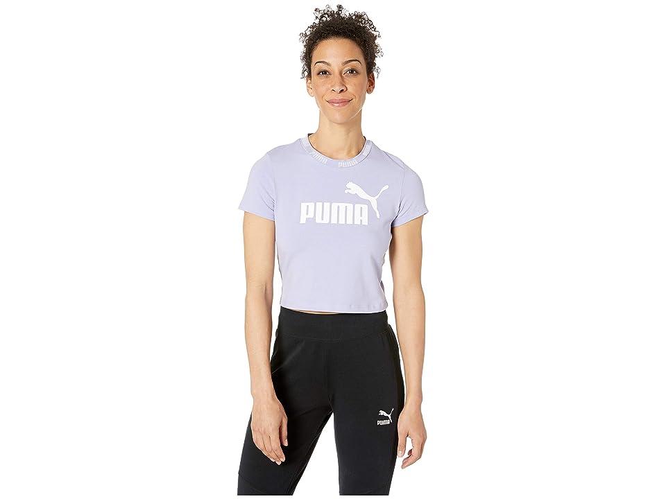 70533fb4 PUMA Amplified Logo Cropped Tee (Sweet Lavender/Puma White) Women