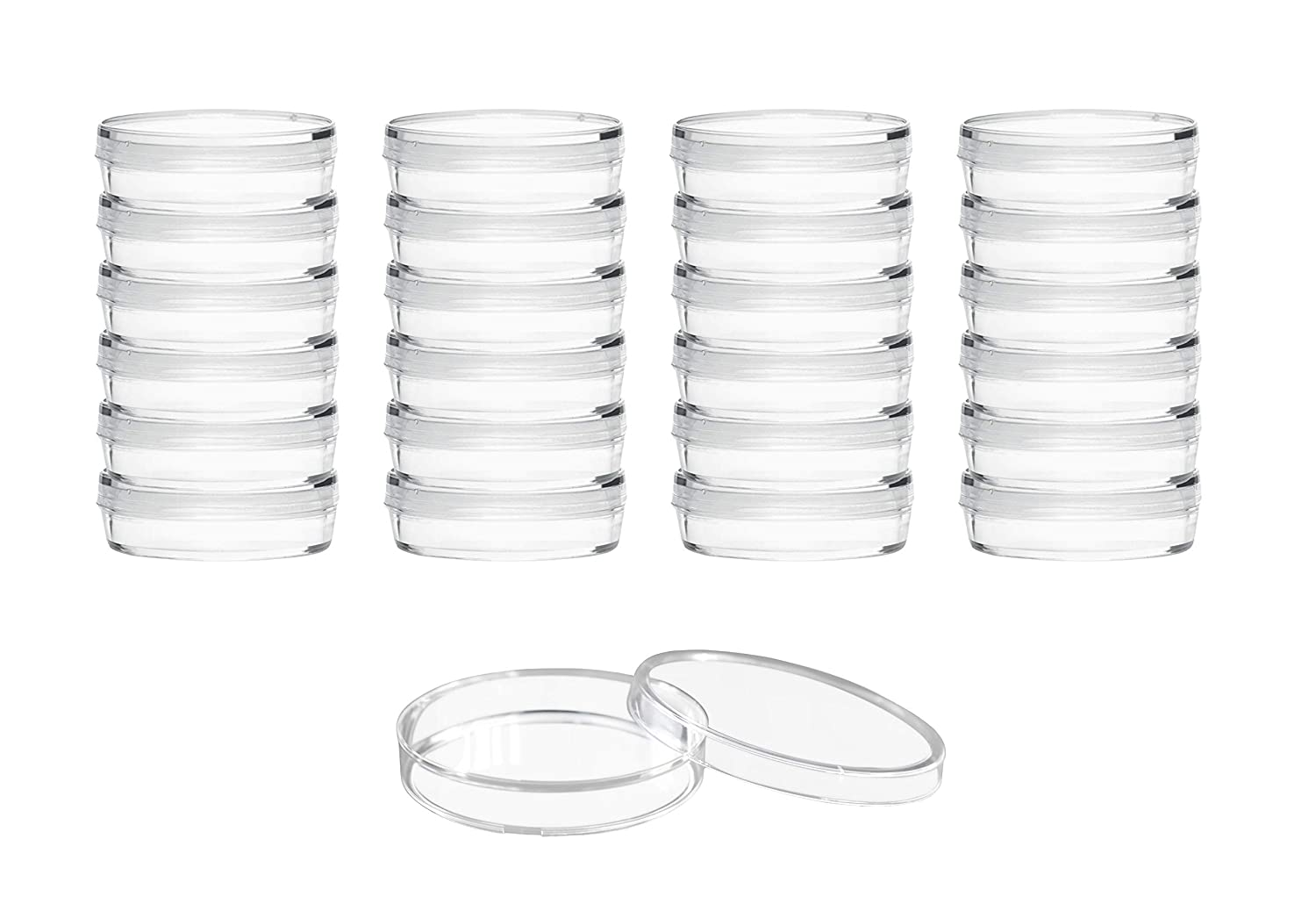 25PK Disposable Petri Dishes with Sterile Diameter Lids 1.4