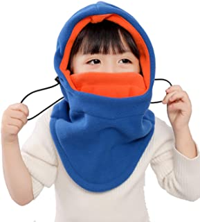 Kids Winter Windproof Cap,Children's Double Warm Balaclava Face Mask for Cold Weather,Neck...