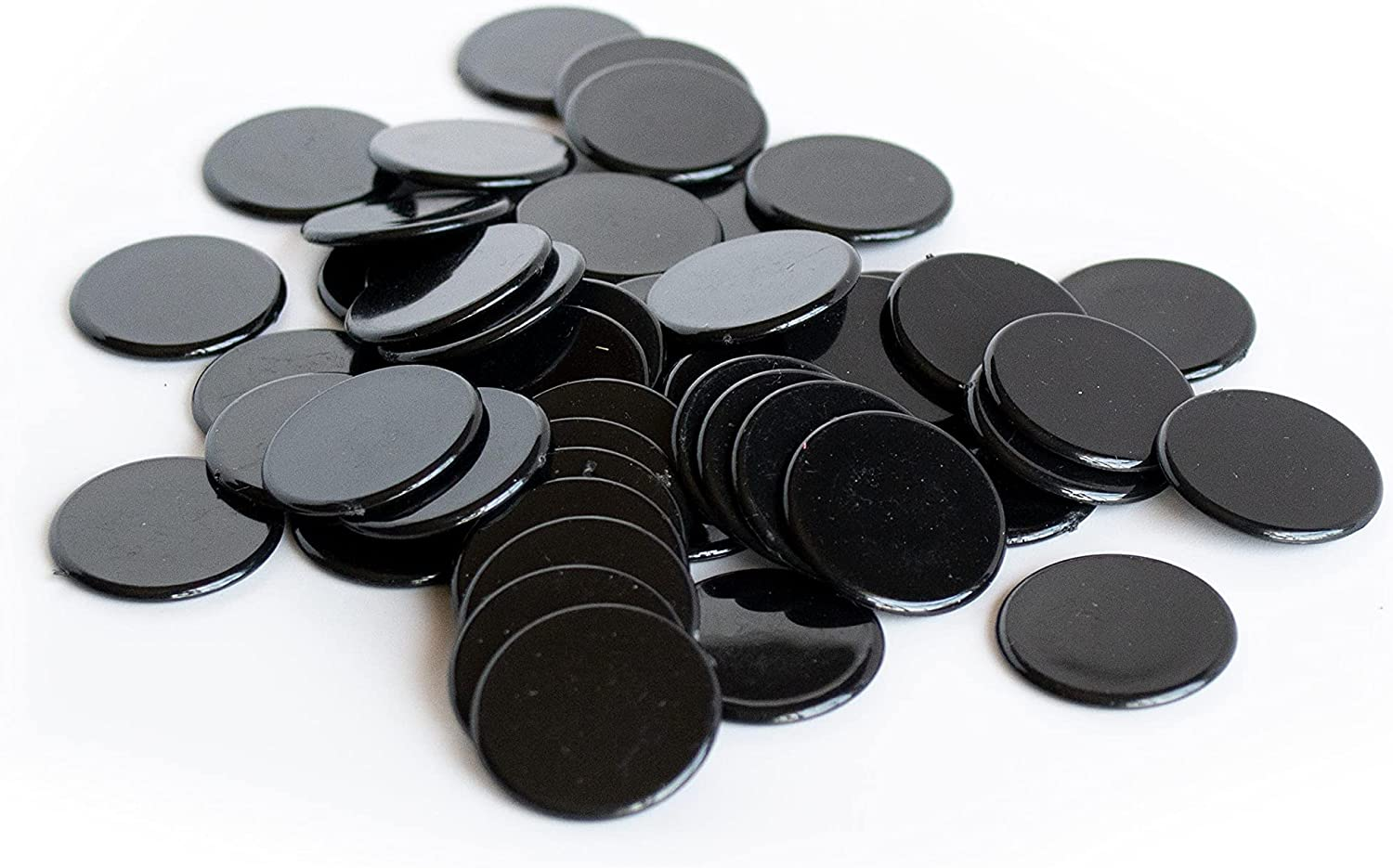 Plastic Counters: Black Credence Color Gaming Import Colored Plasti Hard Tokens