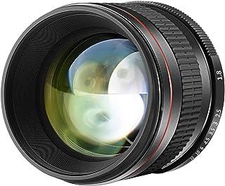 Neewer 85mm f/1.8 Teleobiettivo Medio Asferico Fuoco Manuale per APS-C DSLR NikonD5, D4s, D4, D3x, Df, D810, D800, D750, D...