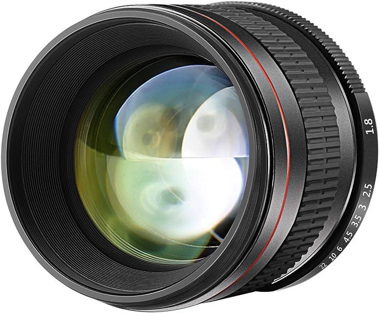 Neewer 85mm f/1.8 Lente Retrato Telefoto Asférica para Cámaras DSLR Nikon D5 D4S DF D4 D810 D800 D750 D7200 D7100 D7000 D5500 D5300 D5200 D3400 D3100Enfoque Manual Cristal HD