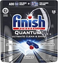 Finish - Quantum - 58ct - Dishwasher Detergent - Powerball - Ultimate Clean & Shine - Dishwashing Tablets - Dish Tabs