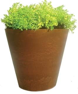 Artstone Napa Round Planter, 10-Inch, Teak