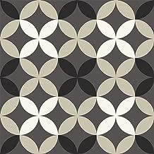 FloorPops FP2479 Clover Peel & Stick Tiles Floor Decal, Gray