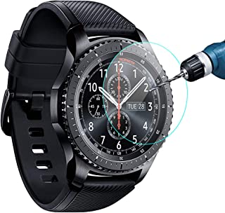 KIMILAR Compatible Samsung Gear S3 & Samsung Galaxy Watch 46mm Screen Protector, Waterproof Tempered Glass Cover Compatible Gear S3 / Galaxy Watch 46mm Smartwatch Crystal Clear Scratch Resist,3 Pack