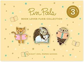 product image for Night Owl Paper Goods Book Lover Enamel Pin Gift Set, 3 Piece