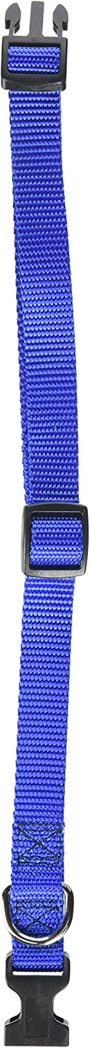 Majestic Pet 14in 20in Adjustable Collar bluee, 40 120 lbs Dog Products