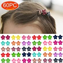 Elesa Miracle 60pcs Baby Girl Mini Hair Claw Clips Flower Hair Bangs Pin Baby Girl Hair..