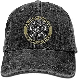 Army Airborne Rangers Logo Denim Dad Cap Baseball Hat Adjustable Sun Cap