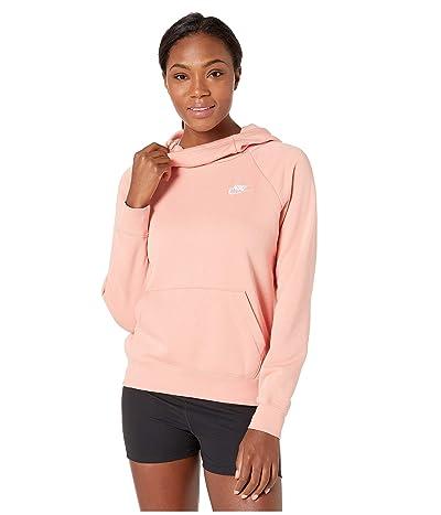 Nike NSW Essential Funnel Pullover Fleece (Pink Quartz/White) Women
