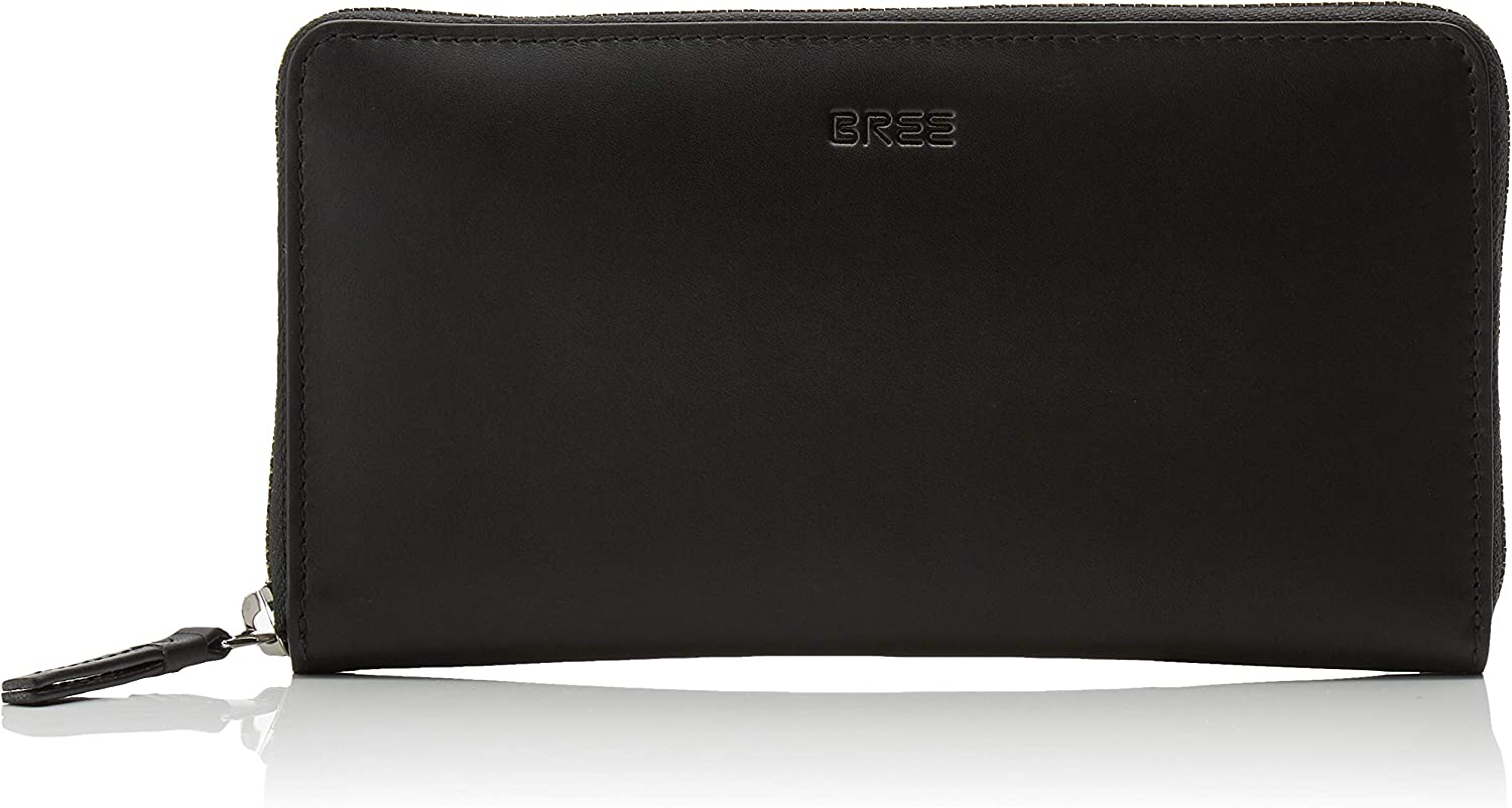 BREE Collection Liv New 111, Black Smooth, Zip. Long Pu, Women's Wallet, (Black Smooth), 2x10x19.5 cm (B x H T)