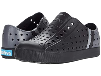 Native Kids Shoes Jefferson Block (Little Kid/Big Kid) (Jiffy Black/Jiffy Black/Dublin Stripe) Kids Shoes