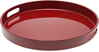 Kotobuki Red Lacquer Serving Tray, 13-1/2-Inch