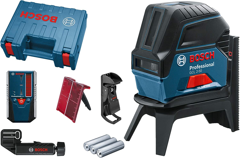 Bosch Professional GCL 2-50 - Nivel láser (alcance 20 / 50 m, láser rojo, en maletín)