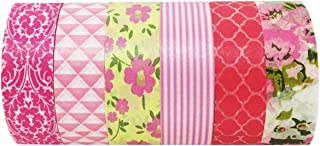 ALLYDREW Pretty in Pink Japanese Washi Tapes Masking Tapes Set, (6 rolls)