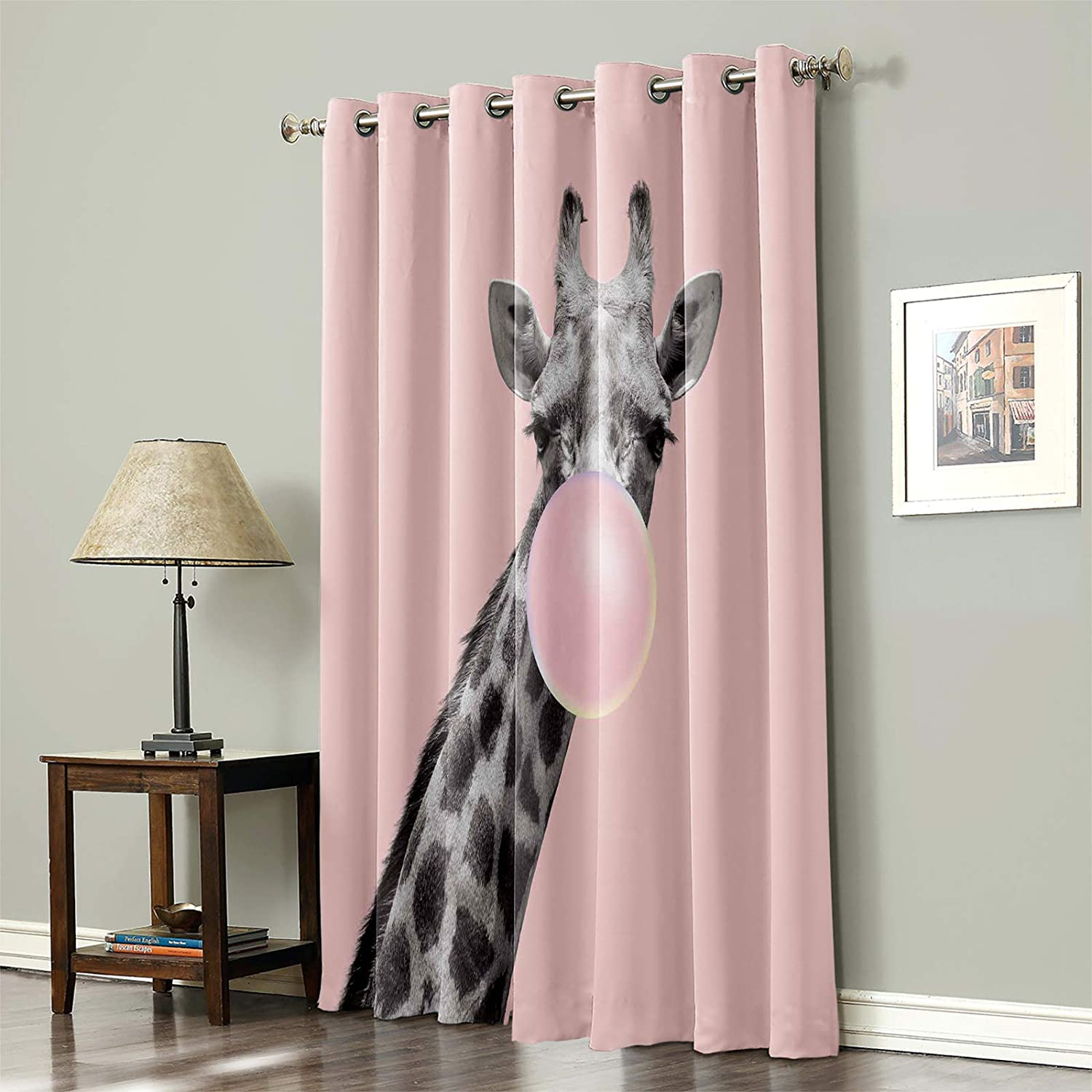FAMILYDECOR Blackout Curtain Bombing free Daily bargain sale shipping Thermal 1 Window Insulated