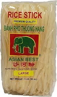 Asian Best Premium Rice Stick Noodle Large, 16oz (3 Packs)