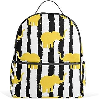 Backpack Stripe Animal Elephant Shoulder Bag Daypack Travel School Rucksack