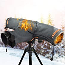 ADAHX Heated Water-Resistant Rain Cover Protector  USB Charging Electric with Cold-Resistant Rain Snow Dust Hand Sleeves for DSLR Cameras for Outdoor Shooting