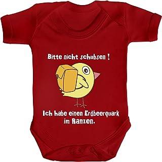 ShirtStreet Strampler Bio Baumwoll Baby Body kurzarm Jungen Mädchen Küken - Bitte nicht schubsen